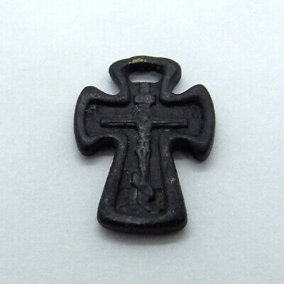Medieval Orthodox Ancient Artifact Bronze Cross