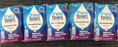5 Thera Tears Dry Eye Therapy Lubricant Eye Drop 30 Vials Each 11/20 03/21 04/21