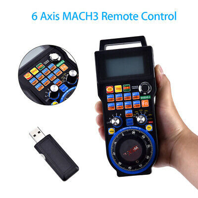 CNC MACH3 6 Axis Electronic Wireless Handwheel Controller Pendant Manual Router