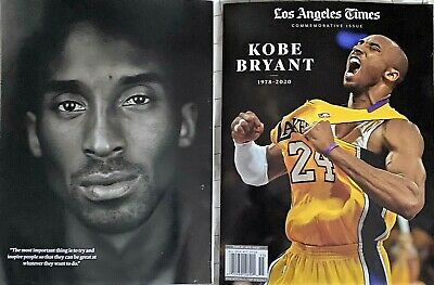 LA Times Kobe Bryant Commemorative Edition Book Magazine Los Angeles Lakers