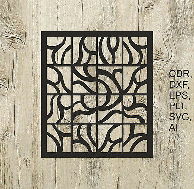 Panel 010, Vector files for cnc, digital files cdr, dxf, eps, ai, svg, plt