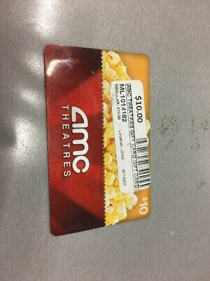 AMC Theatres $10 Gift Card (ML1014182)