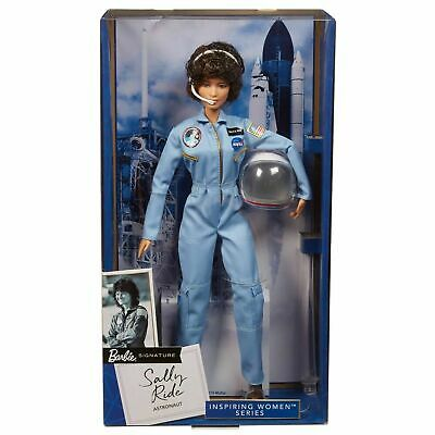 MATTEL BARBIE Inspiring Women: American Astronaut SALLY RIDE BOX GOOD SHAPE!