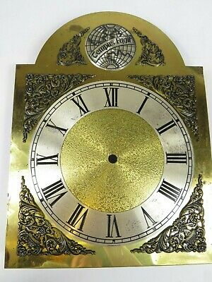 VTG Brass Clock Face Dial Grandfather TEMPUS FUGIT Time Flies West Germany