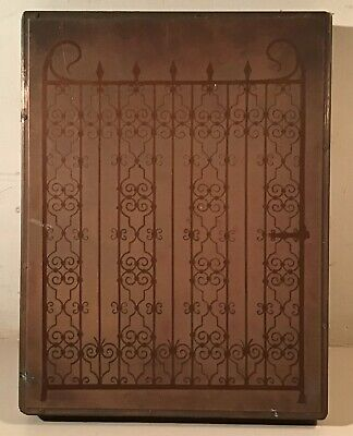 Antique Copper Printing Plate - Wrought Iron Gate 1920s