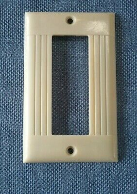 Vtg Sierra Electric Cover Plate Ribbed Ivory Bakelite Hard To Find