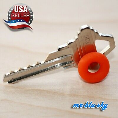 Schlage SC1 Cut Key with rubber ring, locksmith lockout Key space