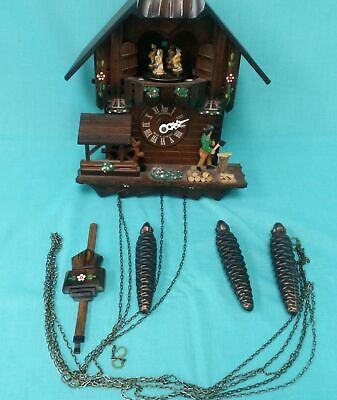 A Schneider Traditional Cuckoo Clock With Dancing Folk, Play Many Tunes #120