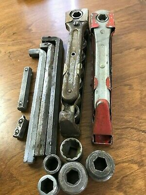 VINTAGE Indestro MFG.CO No.35 Hex Drive Socket Set w/extra's 1920's