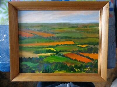 Signed Canadian Oil Painting on Canvas