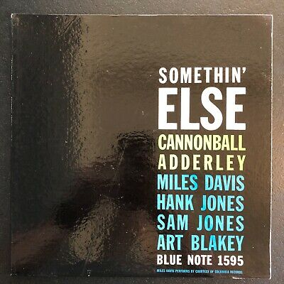 Cannonball Adderley Somethin' Else Blue Note BLP 1595 Deep Groove RVG EAR NYC
