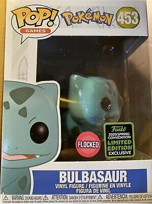 Funko Pop! Pokemon: FLOCKED BULBASAUR ECCC Amazon Shared Exclusive PRE-ORDER!