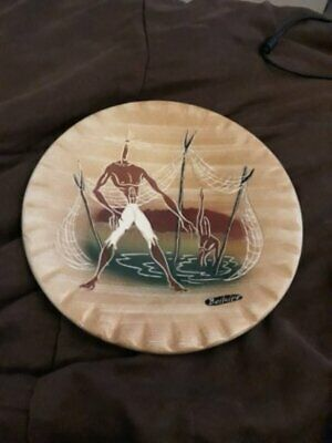 Marc Bellaire Signed Mid Century Ceramic Decorative Plate Beachcomber design