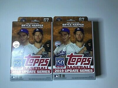 2019 Topps Baseball UPDATE Series Unopened 67 Card Hanger Box Possible Autos