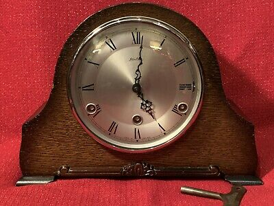 Antique Perivale British Large 8 Day Westminster Chime Mantel Clock