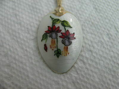 England Sterling Silver Enamel demitasse Spoon Flower # 7013