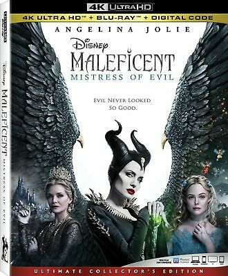 Maleficent: Mistress of Evil 4k UHD + Bluray (No Digital) with sleeves cover