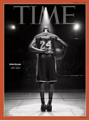 TIME MAGAZINE 2020 KOBE BRYANT (1978-2020) Final Bow On Court Tribute IN HAND