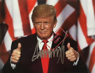 """45th President Donald Trump 8x10 Signed Autograph Reprint """"Mint"""" {SHIPS FREE} 02"""