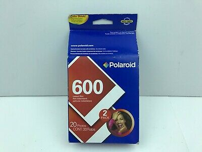 Polaroid 600 Plus Instant Color Film 2 Pack 20 Pictures Made In USA Expired 2007