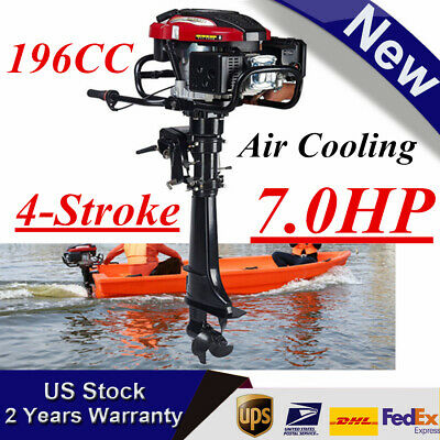 7HP 4-Stroke Outboard Motor Boat Engine + Air Cooling CDI 173CC Heavy Duty