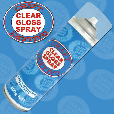 Clear Gloss Spray Coating Finish Protective Spray Craft Gallery Waterproofs
