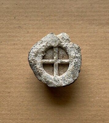 Early byzantine lead seal with cross to seal documents (ca 5th-7th cent.). Nice!