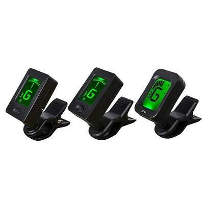 LCD Clip-on Electronic Digital Guitar Tuner Tuning Acoustic Bass Violin Ukulele