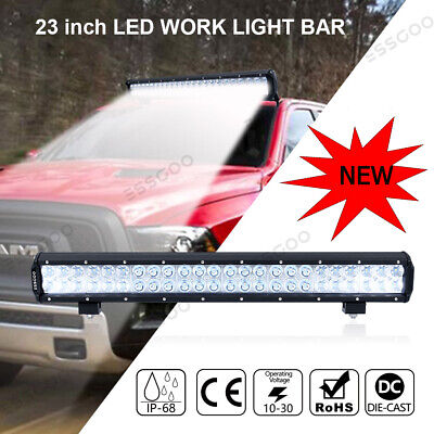 23 inch 336W CREE LED Light Bar Spot Flood Combo 4x4 Work Driving Off Road 23""