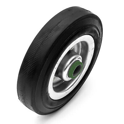 Trailer Jockey Wheel Steel Solid Puncture Proof Tyre 150mm x 38mm / 6 x 1.5 Inch