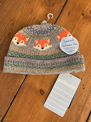 Baby woolen winter hat (Jojo Maman Bebe) – fox fair isle pattern: 3-6 months