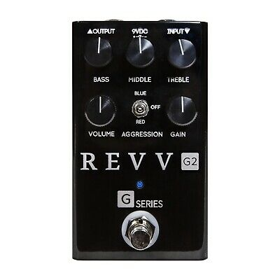 Revv Amplification G2 Distortion/Overdrive Pedal. Limited Edition Black!