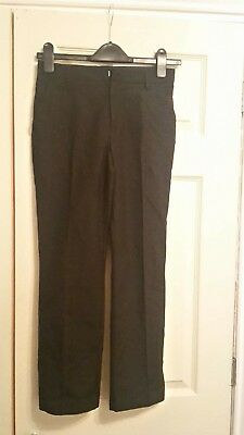 Boys Jet Black Marks & Spencer School Trousers 10-11 Years Hardly Worn