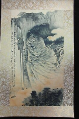 "Rare Large Chinese Paper Painting Beautiful Landscape ""ZhangDaQian"" Marks"