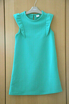 Next Girls Green Ruffle Dress Age 8 Years BNWT