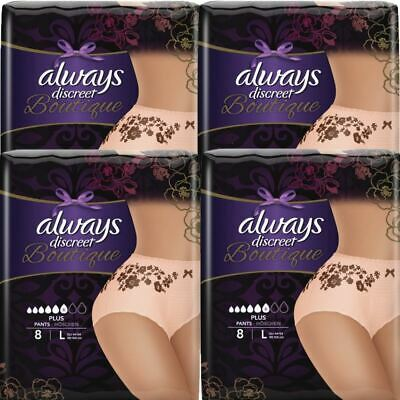 Always Discreet Boutique Pants Plus Underwear Large Sensitive Bladder Pack of 32