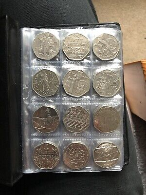 Collectors Storage Book Coin Album for 96 Coins 50p,old 50p.  31 Different Ones