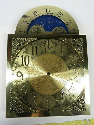 VTG Brass Grandfather Clock Dial Face Constellations Stars Moon