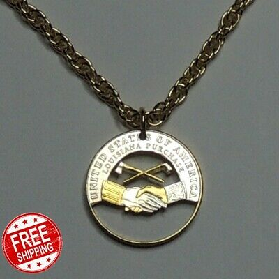 Coin Necklace Pendant Jewelry Gold Silver Nautical With Chain Peace Medal