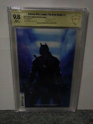 Batman Who Laughs Grim Knight 1 Gabriele Dell'Otto Variant CBCS 9.8 SS SIGNED DC