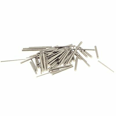 100 conical steel pins for clock maker, assortment with three sizes