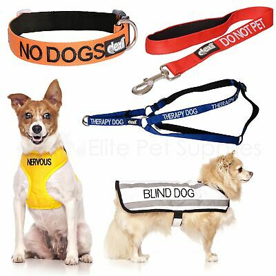 Dexil Dog Collar, Lead, Harness, Coat Colour Coded Advance Pet Warning Worded