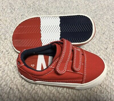Next Baby Boys  Girls Red Shoes Trainers velcro fastened Size 4 Infant New