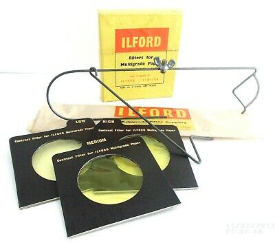 Vintage Ilford Filters For Multigrade Papers & Filter Support