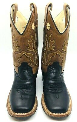 Western Cowboy Boot Youth Size 12D Two-Toned Square Toe