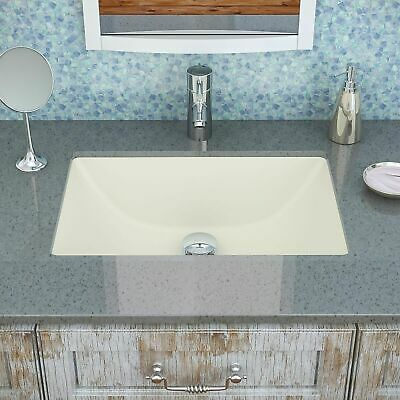 "Rohl FE2370BS 24-3//8/"" Undermount Bathroom Sink with 1 Hole Drilled in Biscuit"