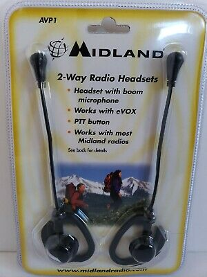Ear Bud Headset with Microphone for Midland Radios Alan G GXT LXT NT Nautico