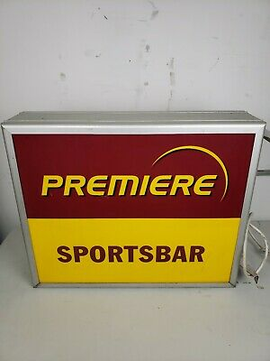 """Vtg German double sided Lighted Plastic Advertising  Sign Bar Pub 27.5""""x21"""""""