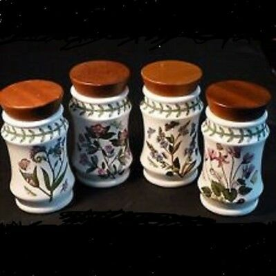 SALE ❀ڿڰۣ❀ PORTMEIRION Set Of 4 BOTANIC GARDEN Collectors Club HERB / SPICE JARS