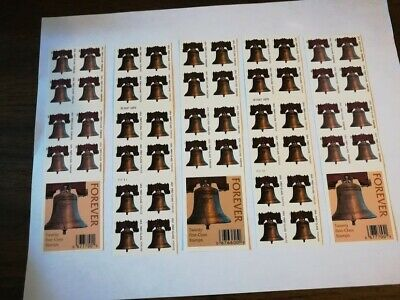 100 US Stamps - 2007/2008 Liberty Bell - 5 Booklets of  20 Forever postage